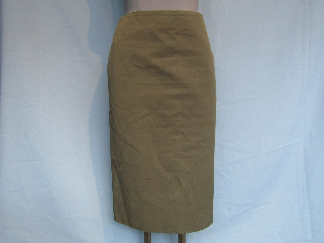Alexander McQueen Twill Pencil Skirt