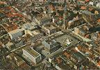 Groningen. Grote markt en Martini toren met voor de Martini toren Amsterdam - Rotterdam Bank.  Gelopen gestempeld in 1973.