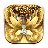 Diamond Butterfly Golden Theme