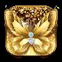 Diamond Butterfly Golden Theme