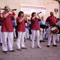 XII Trobada de Colles de lEix, Lleida 19-09-10 - 20100919_174_grallers_CdL_Colles_Eix_Actuacio.jpg