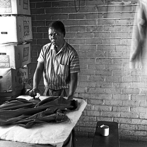 Portraits: Frederick Jillie, working at the Jabulani hostel. Picture: DAVID GOLDBLATT