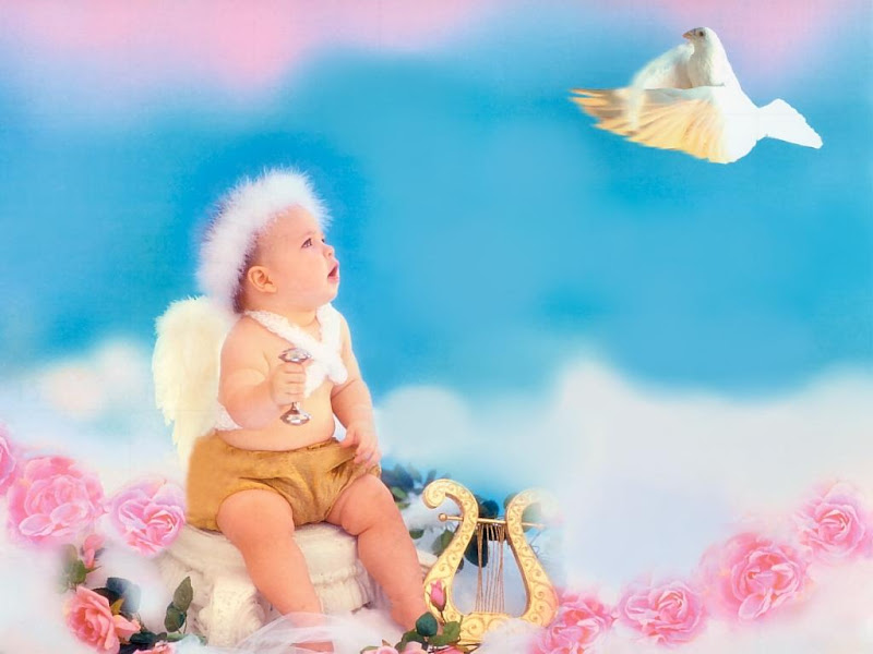 Baby Angel And A Dove, Angels 1