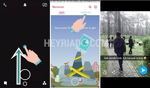 di smartphone Android sekarang sudah dapat dilakukan dengan sangat gampang Cara Upload Foto & Video Galeri ke Snapchat Android