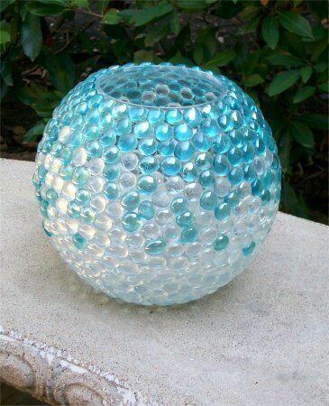 ms y ms manualidades Bellas manualidades con gemas de vidrio