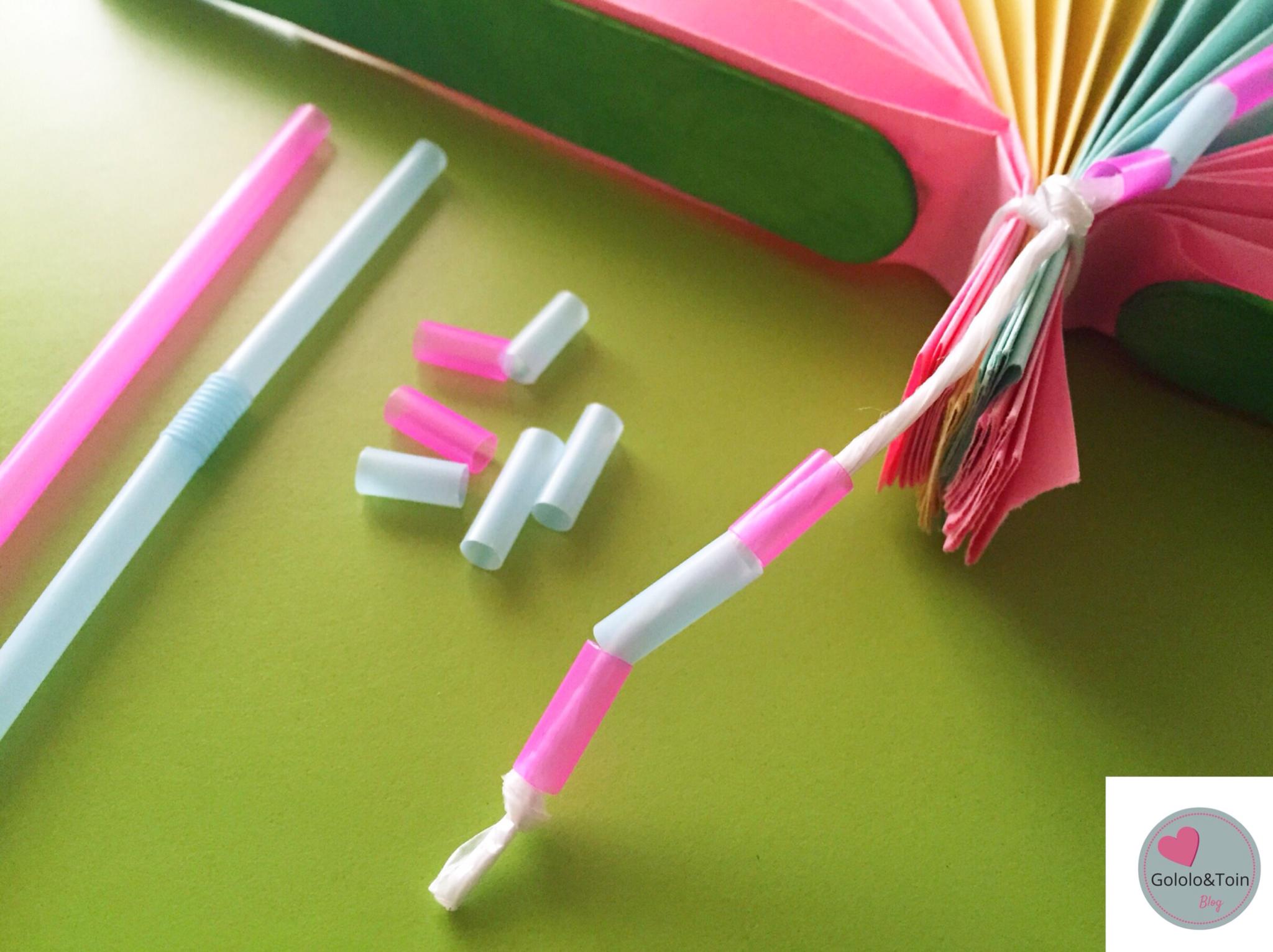 abanico con folios de colores diy gololo y toin blog