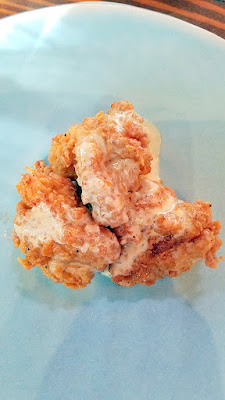 Lincoln Restaurant, Happy Hour item of Fried Chicken with Togarashi White BBQ Sauce