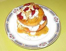 pommes au miel et aux cranberries