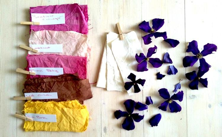 naturally dyed fabrics