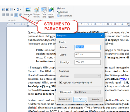 strumento-paragrafo-wordpad