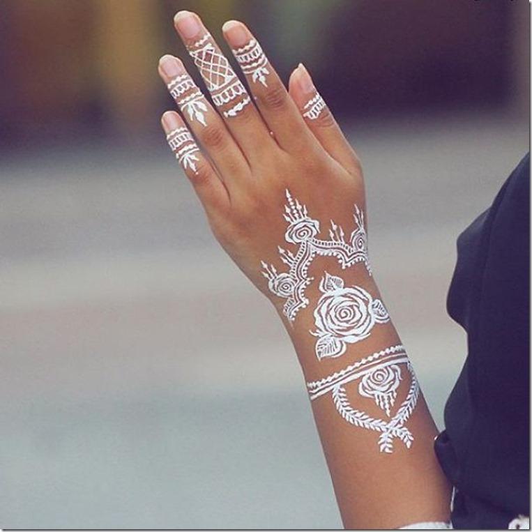 rose henna art