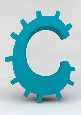 lettre 3D homme joker turquoise - C - images libres de droit
