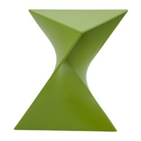 LeisureMod Randolph vanity stool green