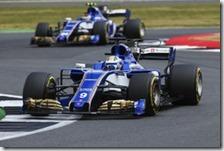 Le due Sauber nel gran premio di Gran Bretagna 2017