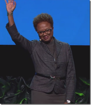 Paula Williams Madison addresses RootsTech 2016.
