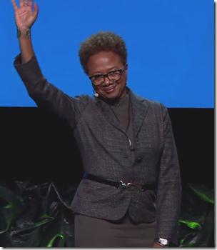 Paula Williams Madison addresses RootsTech 2016.