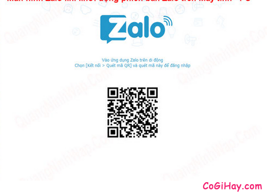 đăng nhập Zalo