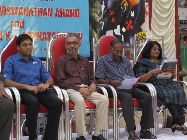 Viswanathan Anand, K.R.Venkataraman, Ram Santhanam of TVS, Sherien Ryan- Secretary Tamilnadu Bridge Association