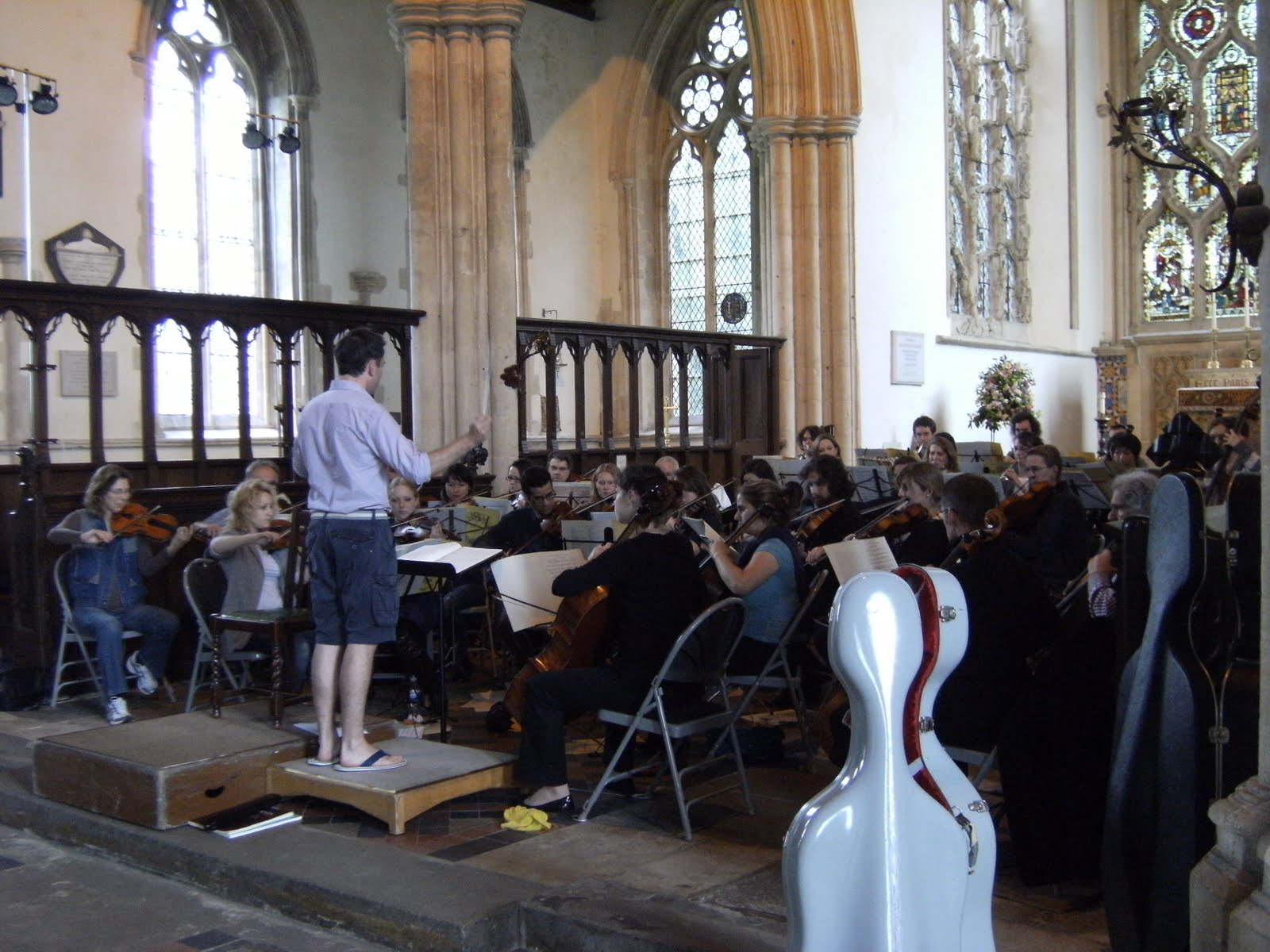 1006190012 An orchestral rehearsal in Dorchester Abbey