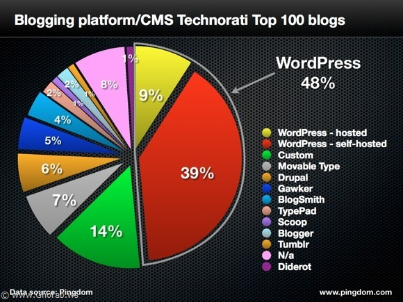 Blogging platforms infographic