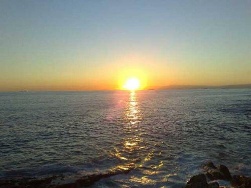 tramonto a genova nervi