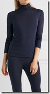 Hanro silk and cashmere turtle neck top