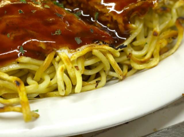 カリカリの麺の部分