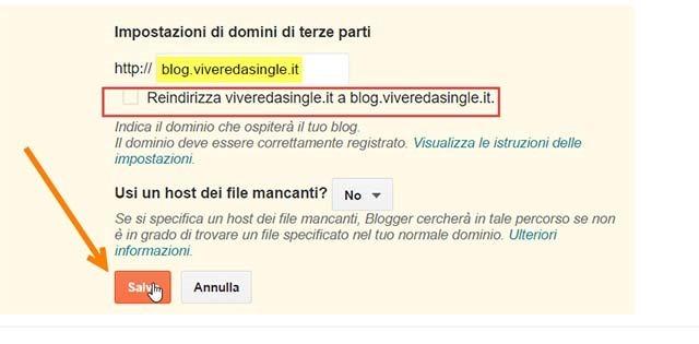 reindirizzare-blogger-sottodominio