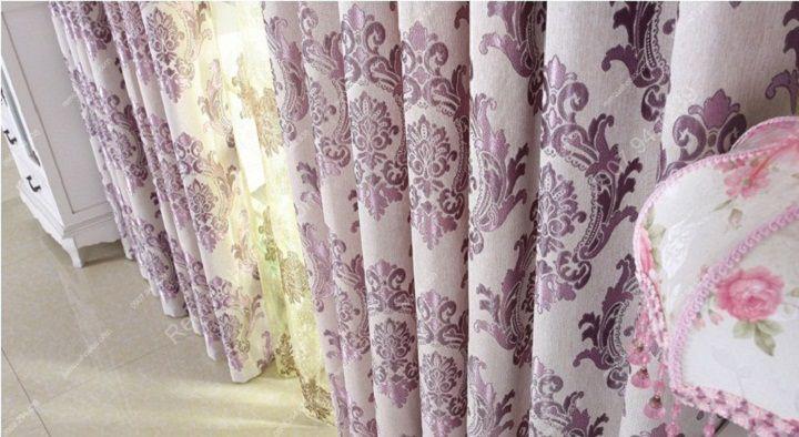 Rèm vải đẹp hà nội họa tiết đơn giản 4
