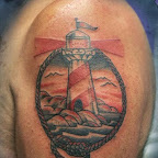 arm lighthouse portrait - tattoos ideas