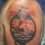 arm lighthouse portrait - tattoos ideas