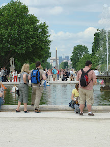 Between the Tuileries and the Louvre, looking toward The Obelisk