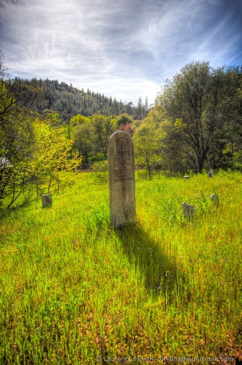 Graveyard in Old Shasta Town California