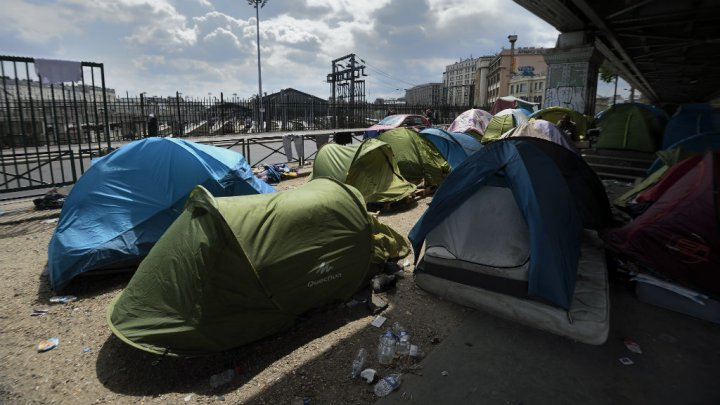 Illegal aliens rousted from squalid tent city