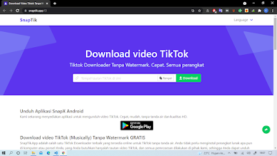 Cara mengunduh video TikTok web