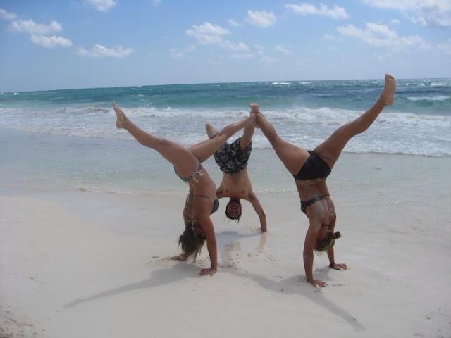 On the beach in Tulum, we set the high vibration super yogi portal