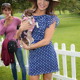WWW.ENTSIMAGES.COM -      Lizzie Cundy and Queeniewoofwoof   at       Pup Aid at Primrose Hill, London September 6th 2014Puppy Parade and fun dog show to raise awareness of the UK's cruel puppy farming trade. Pup Aid, the anti-puppy farming campaign started by TV Vet Marc Abraham, are calling on all animal lovers to contact their MP to support the debate on the sale of puppies and kittens in pet shops. Puppies & Celebrities Return To Fun Dog Show Fighting Cruel Puppy Farming Industry.                                              Photo Mobis Photos/OIC 0203 174 1069