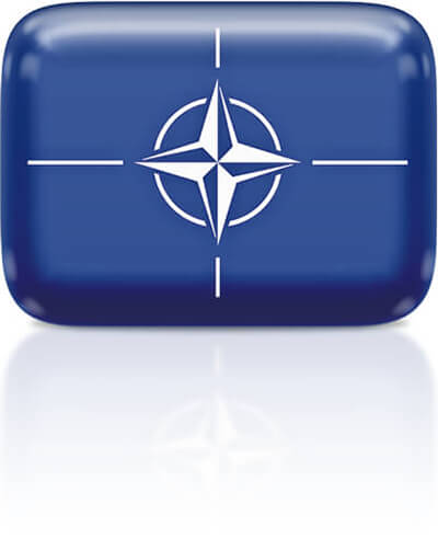 NATO flag clipart rectangular