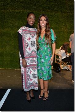 Lavinia Biagiotti con Fiona May