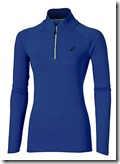 Asics long sleeve half zip blue