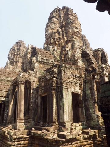 Inside Bayon, Angkor Thom, Cambodia
