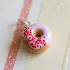 Pink Donut Pendant