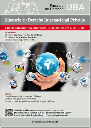 Afiche 2016 Charla informativa Maestria DIPr