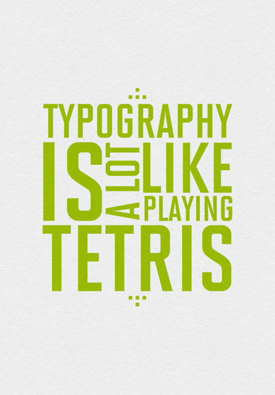 On Typography Tetris