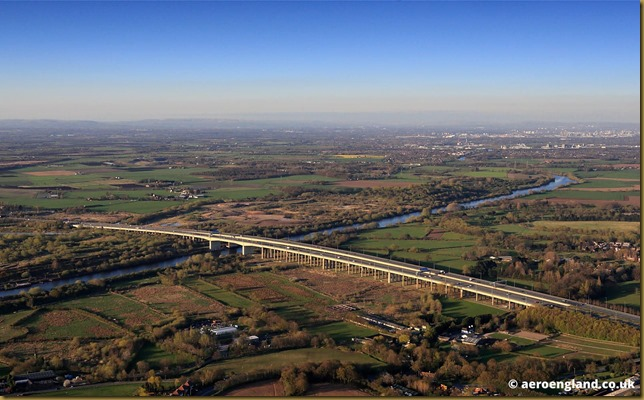 Thelwall Viaduct aerial photograph