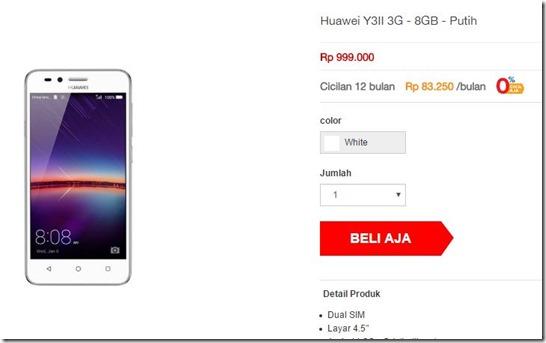 Huawei Y3 II 3G Tersedia di Indonesia, Ini Harga & Spesifikasinya