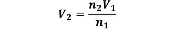 Las leyes de los gases: de boyle, de Charles, de Gay Lussac, de Avogadro y de Dalton - Despeje de la ley de Avogadro cuando se desconoce V2 pero se conoce V1, n1 y n2 - sdce.es - sitio de consulta escolar