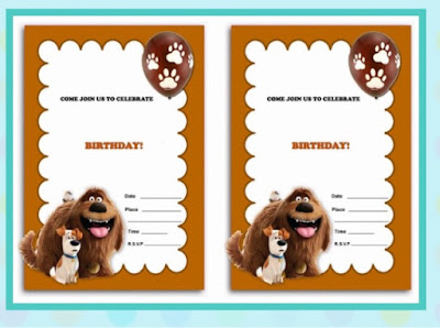 Secret Life of Pets Free Party Invitations