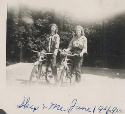 Skip and Madeline Bikes 1949 (2)