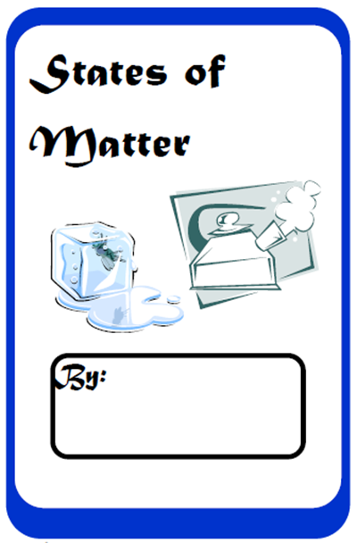 Free, printable student work book for the three states of matter - solid, liquid and gas. From Raki's Rad Resources.